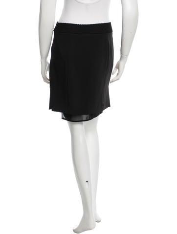 school black knee length skirt clothing