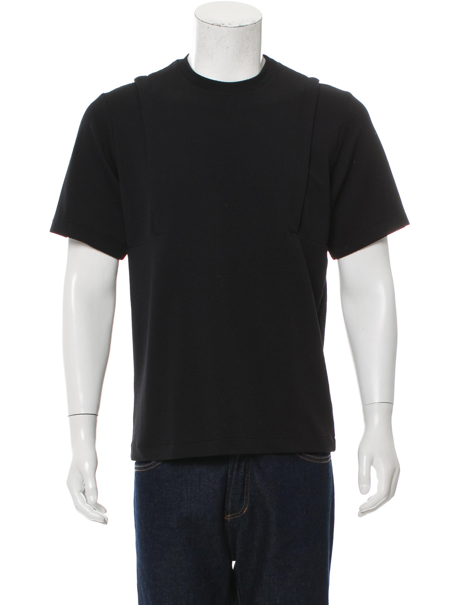 Public School Short Sleeve Textured T Shirt Clothing