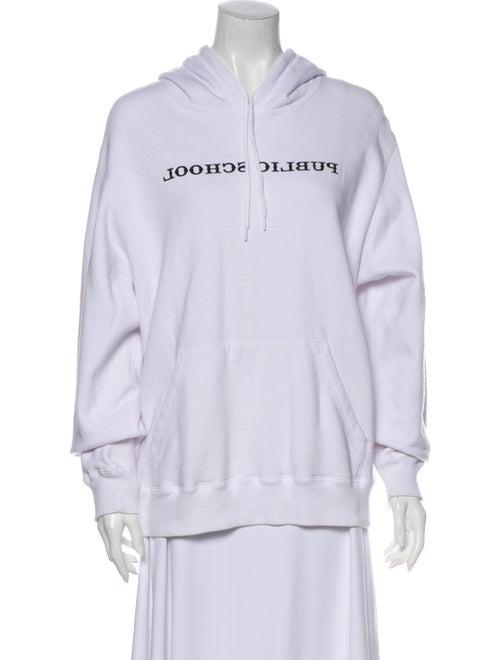 Public School Printed Crew Neck Sweatshirt White