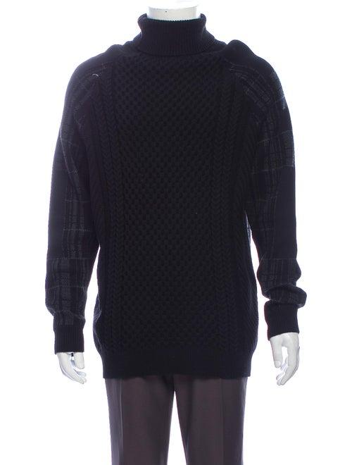 Public School Turtleneck Long Sleeve Pullover Blac