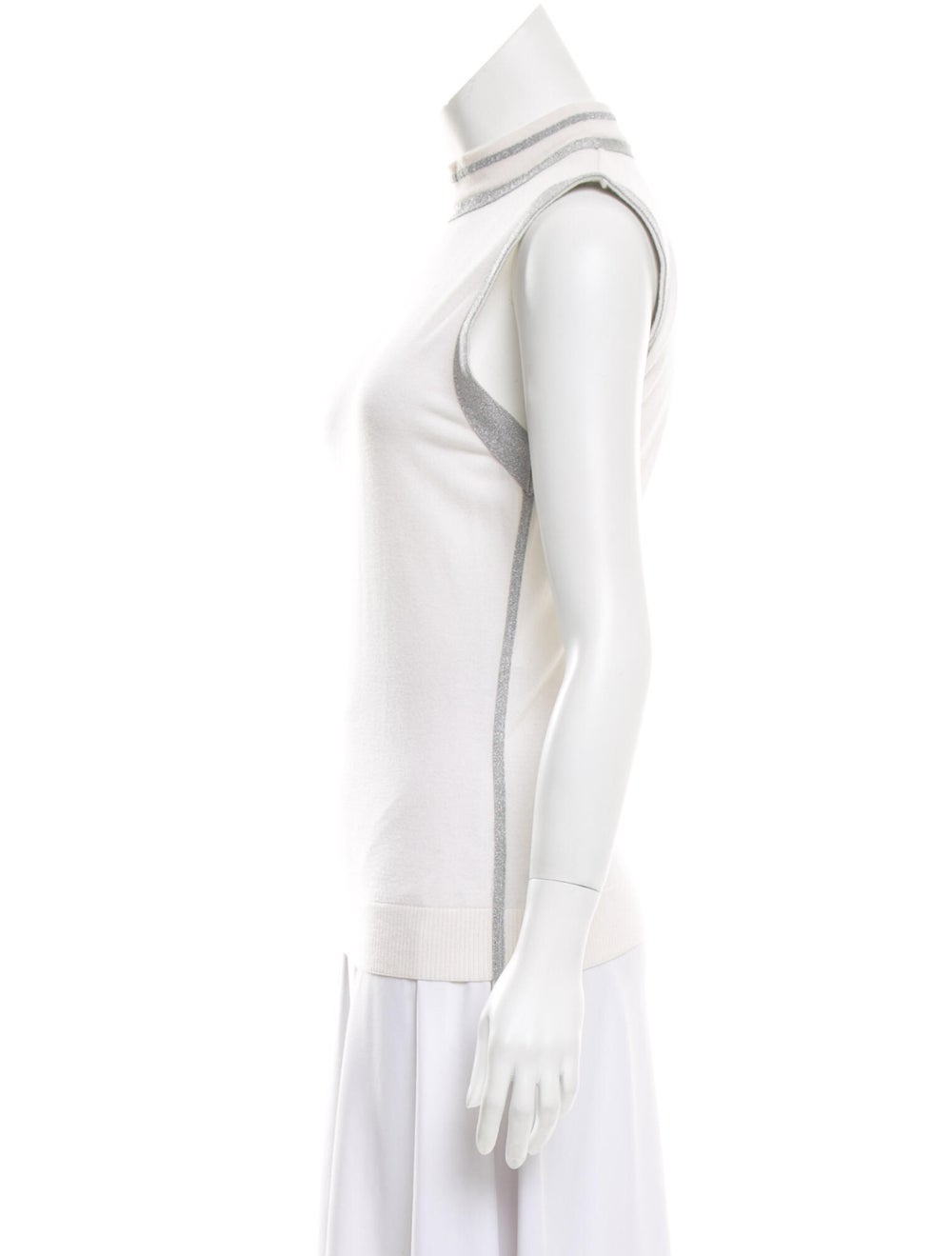 Paco Rabanne Turtleneck Sweater White - image 2