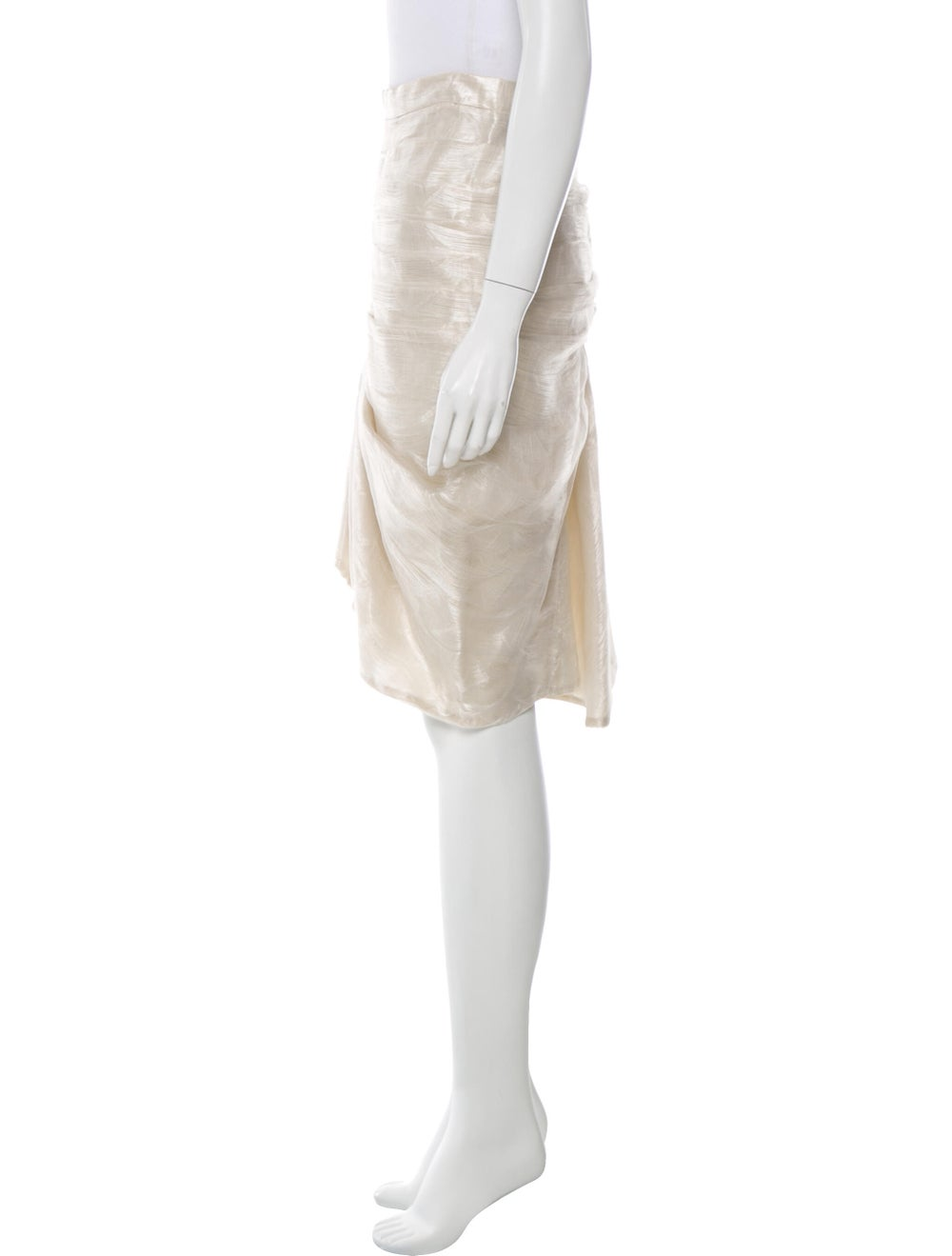 Paco Rabanne Pleated Accents Knee-Length Skirt - image 2