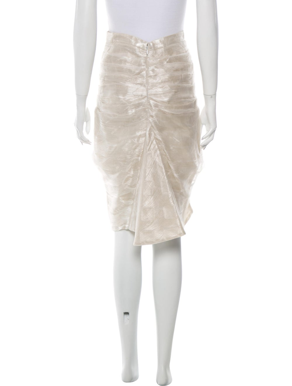 Paco Rabanne Pleated Accents Knee-Length Skirt - image 3