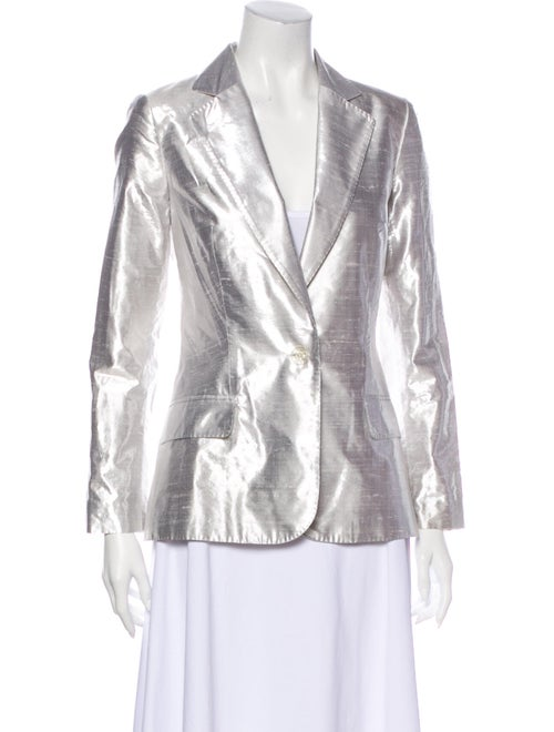 Paco Rabanne Silk Blazer Silver