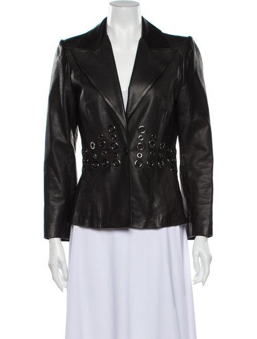 Paco Rabanne Leather Blazer Black