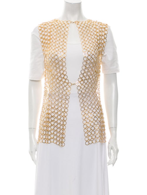 Paco Rabanne Vest w/ Tags Gold