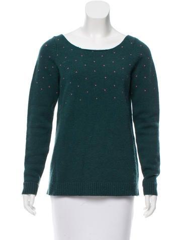 Les Prairies de Paris Lambswool Scoop Neck Sweater None