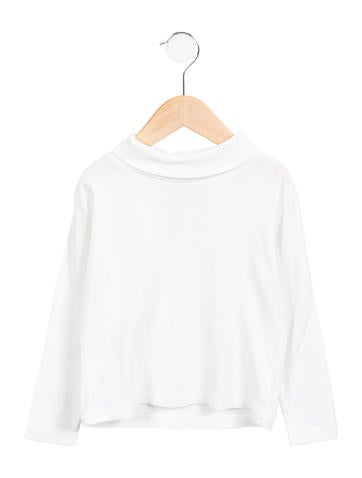 Papo d'Anjo Girls' Long Sleeve Turtleneck Top None