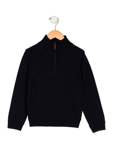Papo d'Anjo Boys' Wool Half-Zip Sweater None