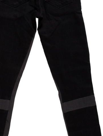 Paneled Skinny Jeans w/ Tags