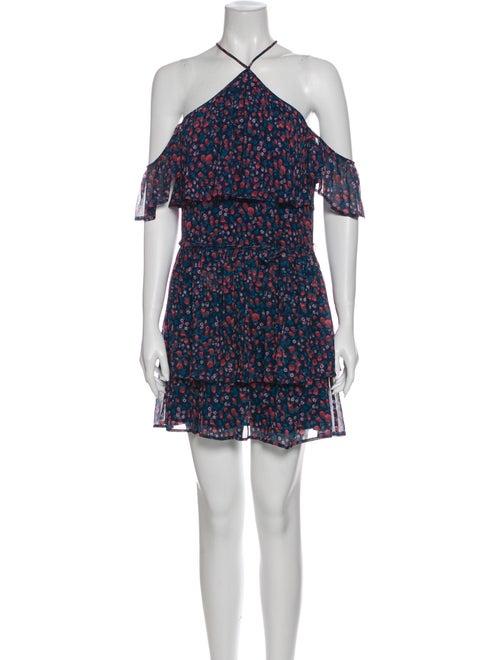 Paige Denim Silk Mini Dress Denim