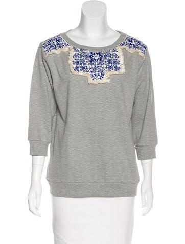 Pepin Embroidered Long Sleeve Sweatshirt None