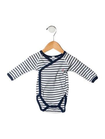Petite Bateau Girls' Striped Bodysuit None