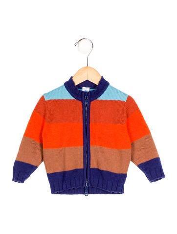 Petite Bateau Boys' Striped Rib Knit Cardigan None