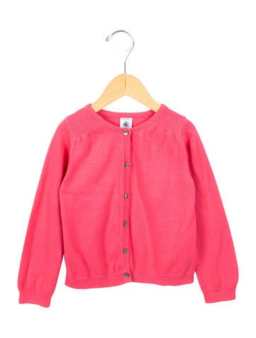 Petit Bateau Girls' Rib Knit Button-Up Cardigan None