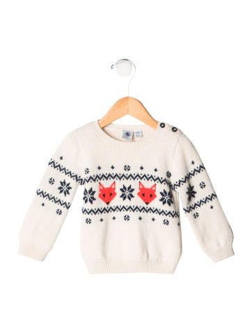 Petit Bateau Boys' Patterned Wool Sweater None