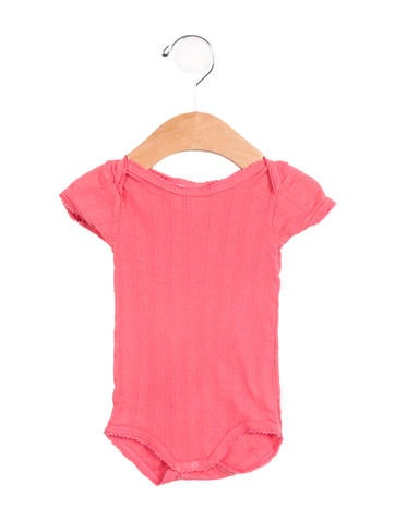 Petit Bateau Girls' Open Knit Short Sleeve All-In-One None