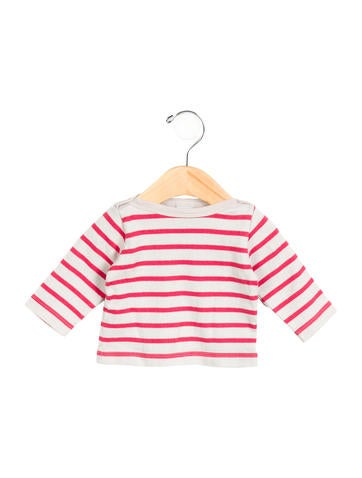 Petit Bateau Girls' Striped Long Sleeve Top None