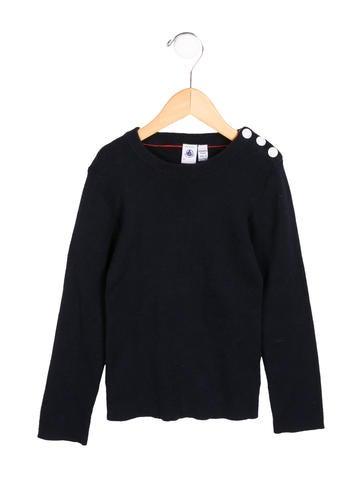 Petit Bateau Girls' Knit Long Sleeve Sweater None