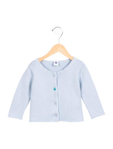 Petit Bateau Girls' Knit Wool-Blend Cardigan None