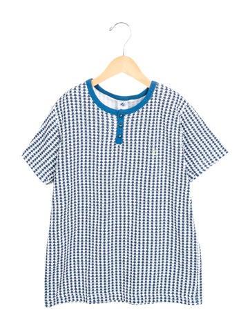 Petit Bateau Boys' Star Print Short Sleeve Shirt None