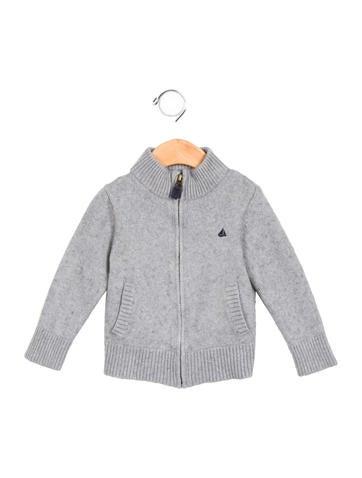 Petit Bateau Boys' Knit Zip-Up Sweater None
