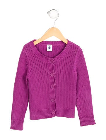 Petit Bateau Girls' Knit Button-Up Cardigan None