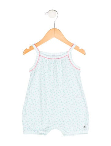 Petit Bateau Girls' Floral Sleeveless All-In-One None