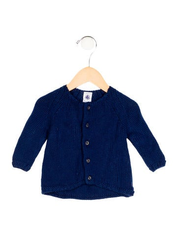 Petit Bateau Girls' Wool Rib Knit Cardigan None