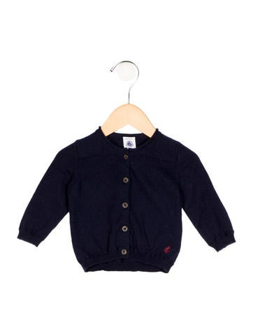 Petit Bateau Boys' Wool-Blend Rib Knit Cardigan None