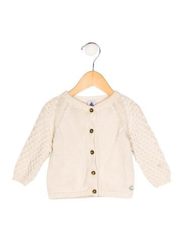 Petit Bateau Girls' Rib Knit Long Sleeve Cardigan None