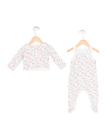 Petit Bateau Girls' Floral Print All-In-One Set None