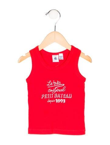 Petit Bateau Girls' Logo Sleeveless Top None