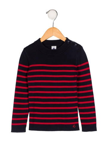 Petit Bateau Boys' Knit Striped Sweater None
