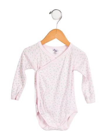 Petit Bateau Girls' Floral Print Long Sleeve All-in-One None