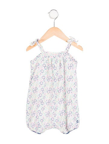 Petit Bateau Girls' Printed Sleeveless All-in-One None