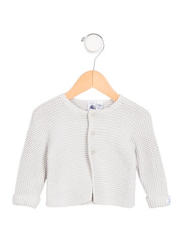 Petit Bateau Girls' Knit Button-Up Cardigan None