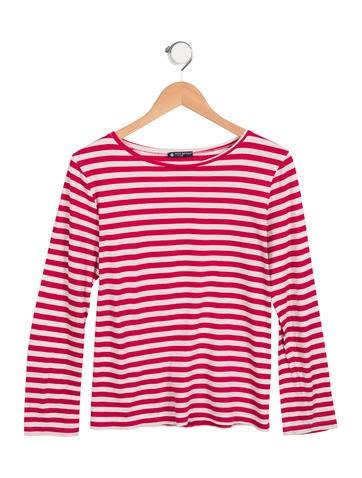 Petit Bateau Girls' Striped Knit Top None