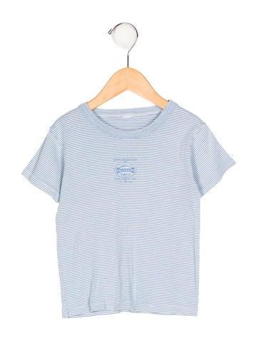 Petit Bateau Boys' Striped Short Sleeve Top None