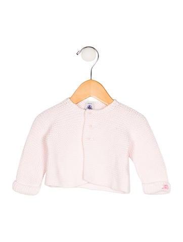 Petit Bateau Girls' Rib Knit Crew Neck Cardigan None