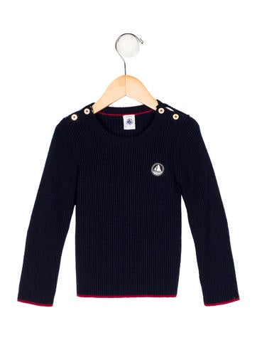 Petit Bateau Boys' Wool Rib Knit Sweater None
