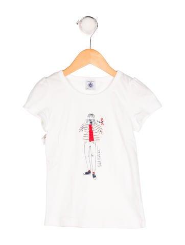 Petit Bateau Girls' Printed Knit Top None