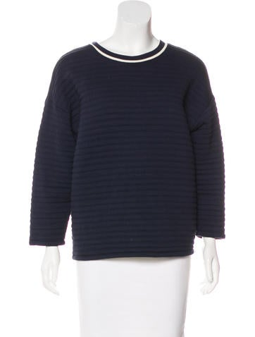 Petit Bateau Quilted Knit Sweatshirt None