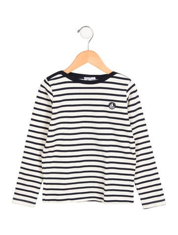 Petit Bateau Boys' Striped Long Sleeve Shirt None