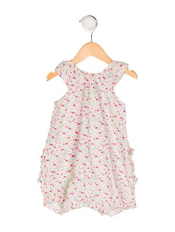 Petit Bateau Girls' Floral Print All-In-One None