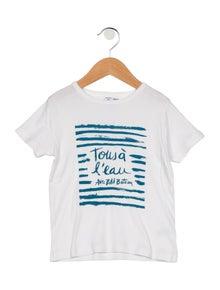 Petit Bateau Girls' Short Sleeve Printed Top