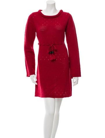 Wool Patterned Dress w/ Tags
