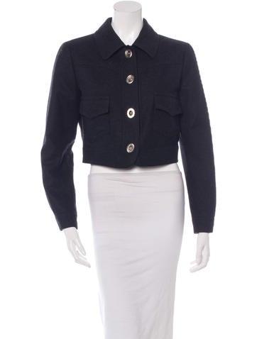 Philosophy di Alberta Ferretti Wool Cropped Jacket None