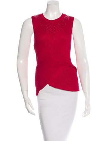 Philosophy di Alberta Ferretti Knitted Sleeveless Top None