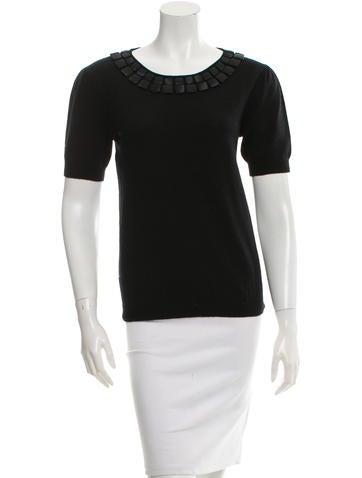 Philosophy di Alberta Ferretti Knit Short Sleeve Top None